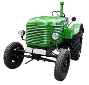 podomácky vyrobený traktor